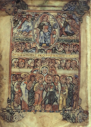 Christ Enthroned Among the Choirs of Heaven, in the 'Aethelstan Psalter'